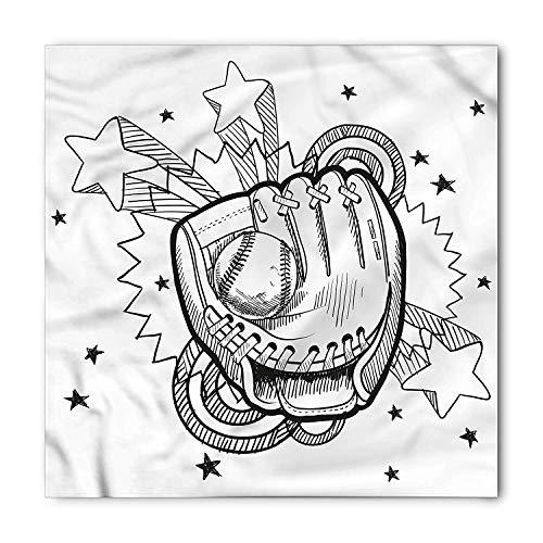 LULABE Sports Bandana, Sports Glove and Ball, Unisex Head and Neck Tie,Unisex Bandana Head and Neck Tie Neckerchief Headdress Silk-Like 100% Polyester(size:M) -