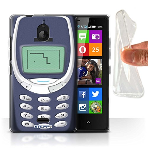 Stuff4® Gel TPU Hülle/Hülle für Nokia X2 Dual SIM/Blaues Nokia 3310 Muster/Vintage Handys Kollektion