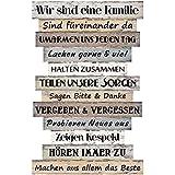 Bada Bing Planken Schild Familie Familienregeln 51 x 33 Wandschild Bild Spruch Deko 037