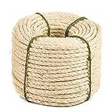 Yangbaga - Corda di sisal Naturale, 8 mm, Ricambio Corda, Accessorio Ideale per sostituire Pali dell'albero per Gatto, Palline Giocattolo in sisal Inclusi