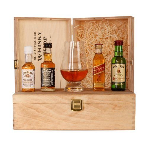 Whisky Set Starter - Jim Beam, Jack Daniels, Johnnie Walker Red Label,...