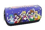 Yournelo giapponese anime sacchetto della matita della penna multifunzionale della cerniera borsa Sailor moon.
