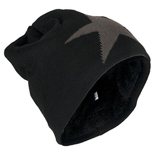 Beanie Mütze (206), Farbe:Schwarz