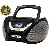 Lauson Boombox Stereo   Portable Radio CD Player with USB   Usb & MP3 Player   Headphone Jack (3.5mm)   CP745 (Black)