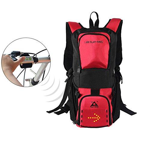 GWJ Riding Safety Backpack, 28L, mit Hinterer LED-Signalanzeige