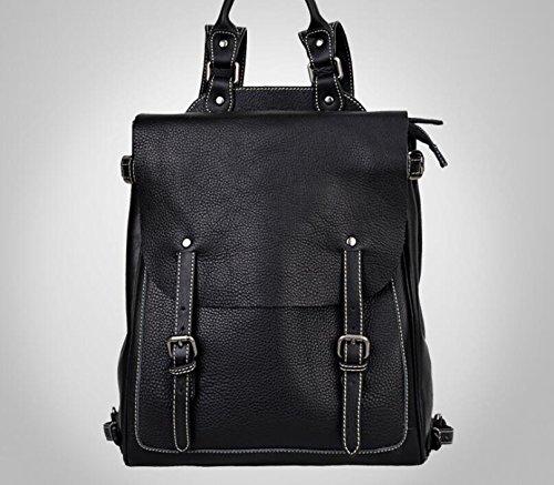 Retro-Umhängetaschen Mann Tasche Retro-Wildleder Leder Handtasche Rucksack Black