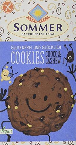 SOMMER Glutenfrei & Glücklich Cookies Choco & Cashew, 125 g - Demeter-schokolade