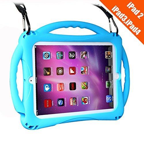 TopEsct iPad 2/3/4 Case Kinder, Anti-Shock Stoßfest Griff Ständer Schutzhülle für Apple iPad 2nd Generation,iPad 3rd Generation,iPad 4th Generation (iPad 2/3/4, Blau)