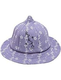 Miyanuby Chapeau de Seau de Bébé Fille, Broderie de Fleurs Chapeau de Soleil  pour Plage 764525b6be7