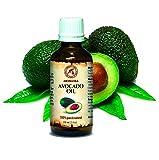 Avocado Öl, kaltgepresst und raffiniert, 100% naturreines und reines 100ml, Avocadoöl, Glasflasche, Basisöl, Südafrika, reich an Retinol, Vitamin E, Körperöl, intensive Pflege für Gesicht, Körper, Haare, Haut, Nägel, Hände, Anti-Falten /Anti-Aging, rein verwendet, gut mit ätherischem Öl / für Schönheit / Beauty /Aromatherapie / Entspannung / Massage / Wellness / Kosmetik / Körperpflege / Spizenqualität / Geruchsfrei / Alternative Medizin von AROMATIKA
