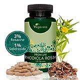 PREMIUM Rhodiola Rosenwurz 200mg Vegavero | 3% Rosavine und 1% Salidroside | Laborgeprüft | Hochwertiger 10:1 Rhodiola Rosea Extrakt |120 Kapseln | Vegan und OHNE Zusatzstoffe