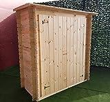 CABEX CO. SRL Casetta da giardino Armadio in pino massello per ricovero attrezzi sp. 19 mm | BLOCK HOUSE PORTA DOPPIA