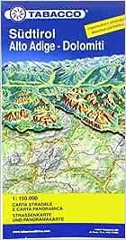Cartina Geografica Dolomiti.Amazon It Sudtirol Alto Adige Dolomiti Carta Stradale E Panoramica In Scala 1 150 000 Aa Vv Libri