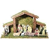 Crèche de Noël avec 11 santons en céramique
