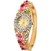 Kitcone Analog Mutli Colour Dial with Gold & Pink Combination in Belt Women Watch - Pd457