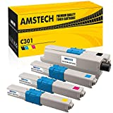 Amstech [4-PACK] Kompatibel für OKI 301 Toner für OKI MC342 C301 C301dn C321 C321dn MC342dn mc 342 mc332 mc342dnw 332dn 301dn mc342 mc332dn mc342w Toner Laserdrucker OKI MC342 Toner Farblaserdrucker