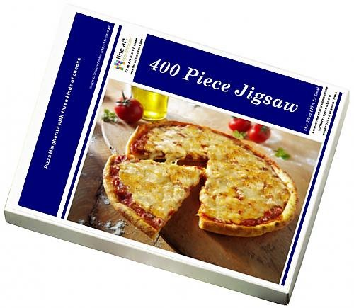 Media Storehouse 400 Piece Puzzle of Pizza Margherita with three kinds of cheese (12531451)