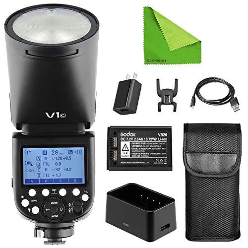 Godox V1-C V1 Li-on TTL On-Camera Round Flash Speedlight Compatible...