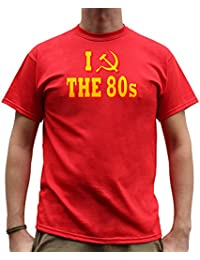 Nutees I Love 80's Fancy Dress Costume Party Funny Mens T Shirt - Red