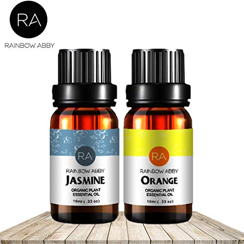Jasmin Jasmin Vitamine (Jasmine Orange ÄTherische Öl Set Jetzt Aromatherapie 100% Reine therapeutische Klasse Öle, 2/10ml - 2 Packung)