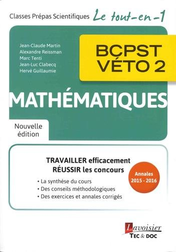 Mathmatiques BCPST-VETO 2e anne