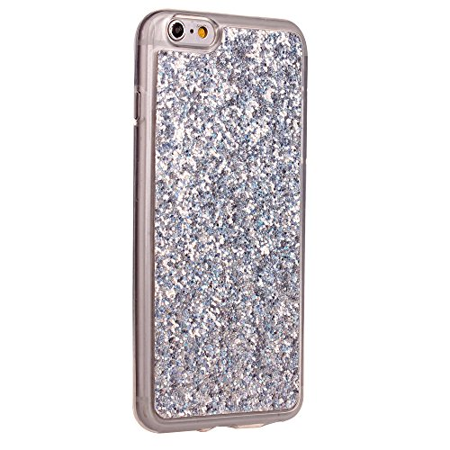 Cuitan TPU Glitzer Schutzhülle für Apple iPhone 6 plus / 6s plus (5,5 Zoll), Glänzende Puder Glitter Shinning Rück Abdeckung Case Cover Hülle Handytasche Rückseite Tasche Handyhülle für iPhone 6 plus  Silber