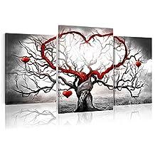 murando - Cuadro pintado a mano 155x90 cm -100% pintados a mano - cuadro en lienzo - tríptico - abstracción - 5684