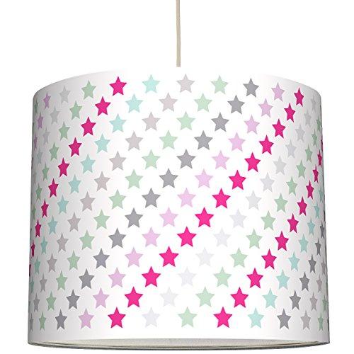 anna wand Lampenschirm SUPERSTARS – Schirm für Kinder/Baby Lampe mit Sternen in versch. Farben – Sanftes Licht für Tisch-, Steh- &...