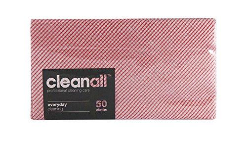 cleanall jcc50r janitors panno, Everyday, colore: rosso (Confezione da 24)