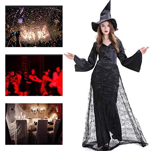 JH&MM Halloween Kostüm Frauen Hexenteufel Kleid Langen Rock Spinnennetz Mantel Gericht Maskerade - Spinnennetz Fee Kostüm