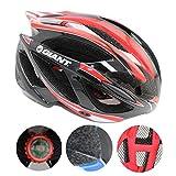 Xagoo Bicicleta casco 53-62cm construido en luz LED (negro&rojo)