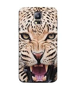 PrintVisa Designer Back Case Cover for Samsung Galaxy S5 :: Samsung Galaxy S5 G900I :: Samsung Galaxy S5 G900A G900F G900I G900M G900T G900W8 G900K (Roar Wild)