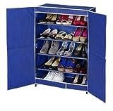 WENKO 4381632100 Schuhschrank Air mit 5 Böden - für bis zu 16 Paar Schuhe, 100 % Polypropylen, 61 x 90 x 32 cm, Blau
