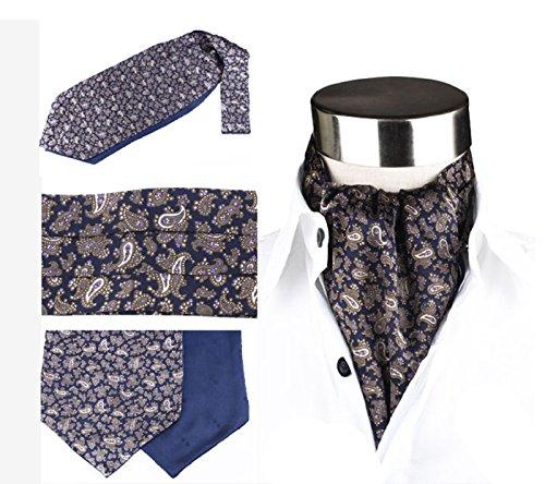 Krawattenschal Ascot Schal zum Binden 100% reine Seide Wechselt das Muster