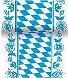Duni Tischband aus Dunicel Damast-Druck Bayernraute, 15 x 1000 cm
