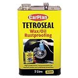 TETROSYL LTD Tetroseal Waxoil Car Rustproof Coating Car Rust Proof Black 5 Litre/Ltr