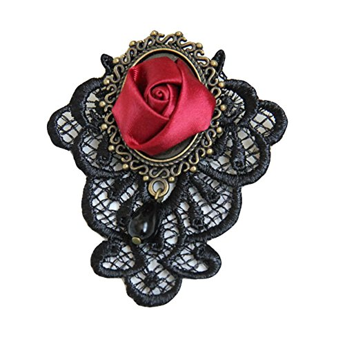 Cosanter gótico de encaje retro rosas mano broche broche de moda broche pin coreano