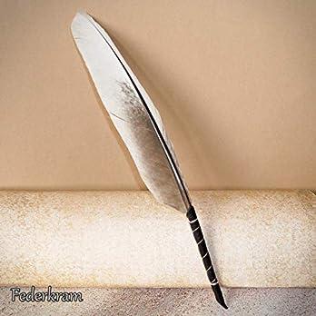 Kugelschreiber Feder Ohrfasan Schreibfeder, Federkiel Vogel Stift, handgemacht von Federkram