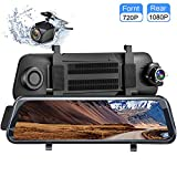 Dash Cam 9.66 Inch Full HD Touch Screen Dash Camera Streaming Media With