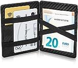 GenTo Magic Wallet Monte Carlo - Carbon-Optik - TÜV geprüfter RFID, NFC Schutz - Magische Geldbörse | Design Germany