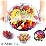 ganjoy silicona cuenco cubre Wraps y alimentos Stretch tapas reutilizables para el Medio Ambiente