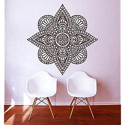 Adhesivos de pared Mandala indio patrón Yoga Oum Om vinilo decoración del hogar arte murales dormitorio estudio ventana (mn283), vinilo, 48cmTall x 48cmWide