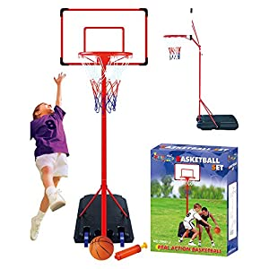 Freistehend Basketball mit verstellbarem Ständer 261cm Set Hoop Net Rückwand...