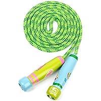 UEETEK Kinder Springen Seil,springen Seil mit Cartoon Holzgriff für Kinder Kinder, ideal für Fitness Training/Fett Brennen Übung