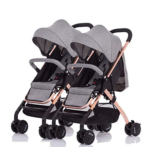 Pink day Kinderwagen Zwillingskinderwagen Abnehmbarer, liegender, leichter, zweifach klappbarer Zwei-Kinder-Doppelwage