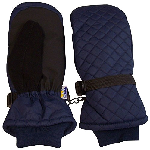 nice-caps-kids-thinsulate-and-waterproof-quilted-ski-mittens-5-7-years-navy
