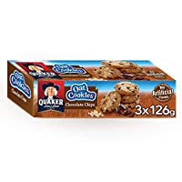 ‏‪Quaker Oat Cookies with Chocolate Chips, 126 gm, Pack of 3‬‏