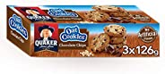 Quaker Oat Cookies with Chocolate Chips, 126 gm, Pack of 3