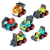 Cadillaps Mini Auto Set Kinder Spielzeug 6 Baufahrzeuge für 18 Monate als einen Weihnachtsgeshenke Geburstagesgeschenke