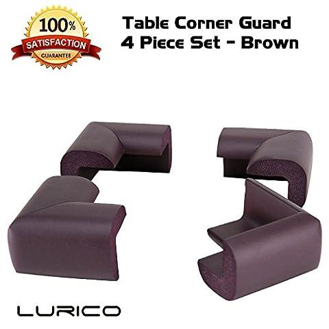 LURICO Tisch Kantenschutz Eckenschutz für Kinder ,4 Stück (Braun)